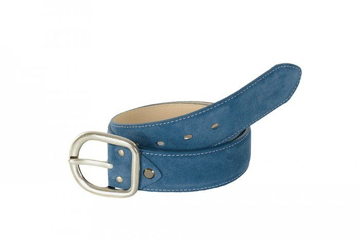 Pasek do spodni skórzany - Pikeur - smoked blue
