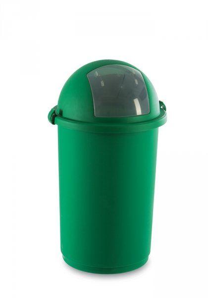 Kosz na śmieci 50L push 5055 zielony