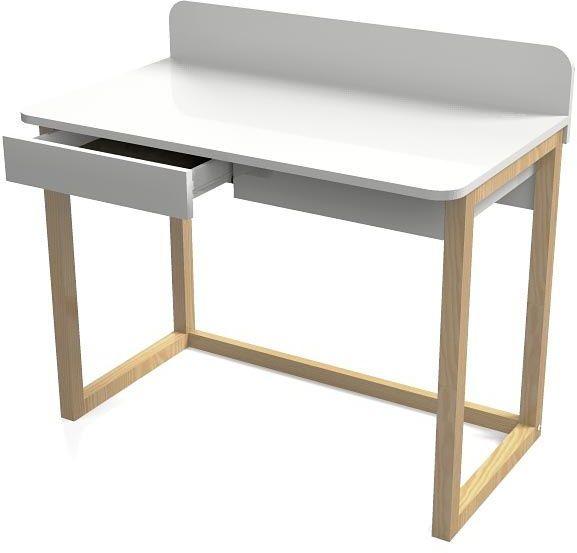 Białe skandynawskie biurko dziecięce Margo