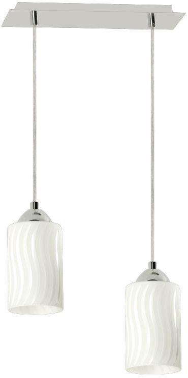 Lampex Helen 2 552/2 lampa wisząca nowoczesna podłużny szklany klosz 2x40W E27 34cm