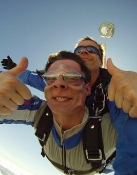 Skok ze spadochronem  Nowy Targ