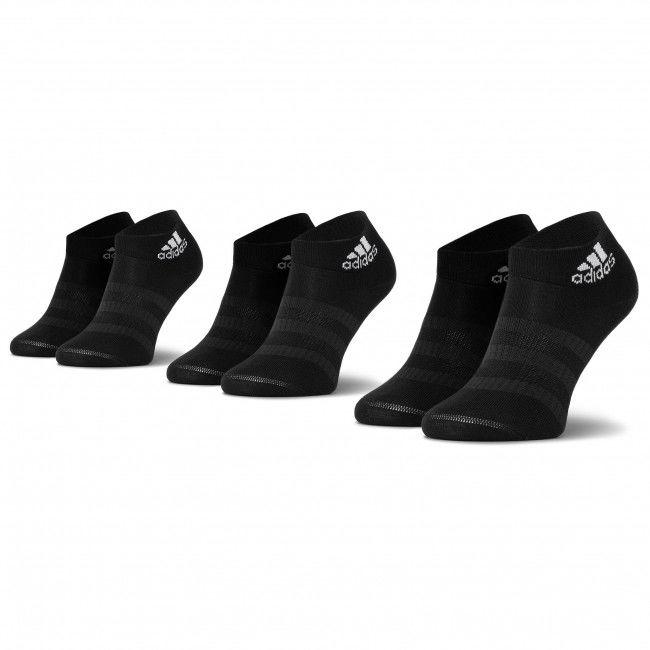 Zestaw 3 par niskich skarpet unisex adidas - Light Ank 3Pp DZ9436 Black/Black/Black