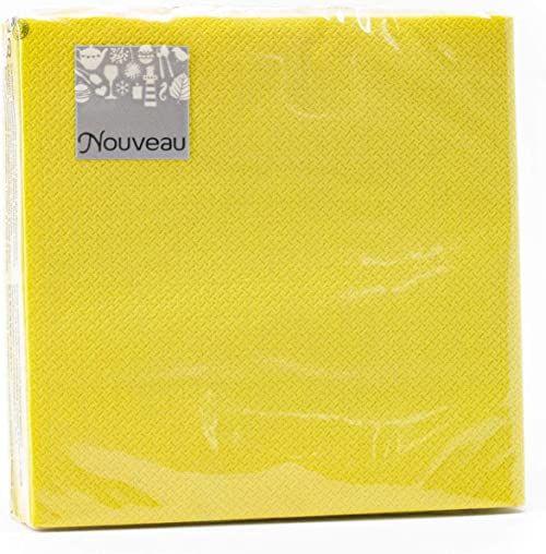 Nouveau Serwetki papierowe, zielone/limonkowe, 25 x 25