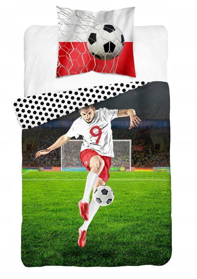 Pościel bawełniana 160x200 piłkarz piłka młodzieżowa