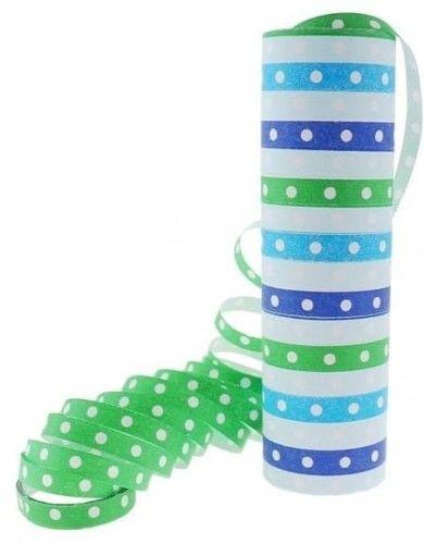Serpentyna papierowa, Groszki i paski niebiesko-zielone