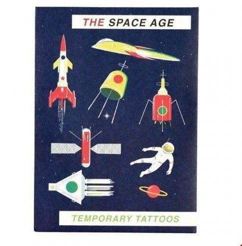 REX LONDON - Tatuaże Zmywalne Dla Dzieci, Era Kosmiczna, Rex London
