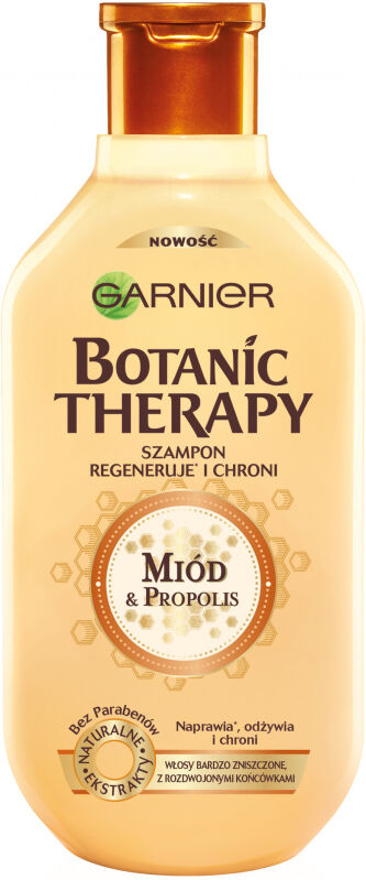 GARNIER - BOTANIC THERAPY - Regenerujący szampon do włosów bardzo zniszczonych i z rozdwajającymi się końcówkami - Miód & Propolis - 400 ml
