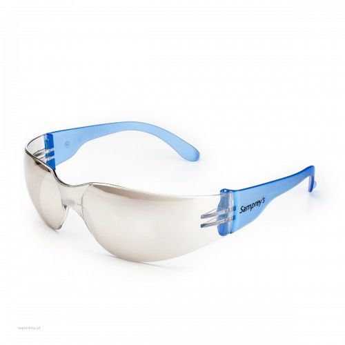 Okulary ochronne SAMPREYS SA 130 szybki lustrzane