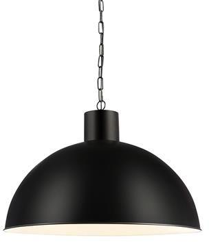 Lampa wisząca EKELUND XL 107736 Markslojd pojedynczy czarny zwis w industrialnym stylu z metalowym kloszem