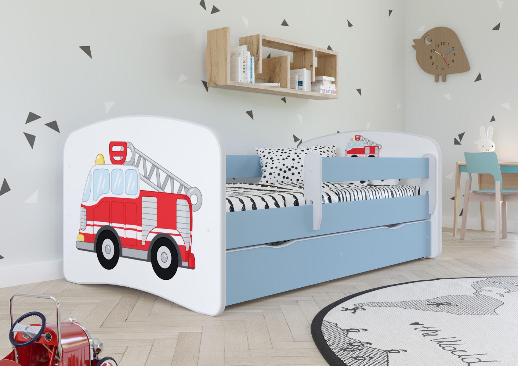 Łóżko dziecięce BABY DREAMS straż pożarna 140x70