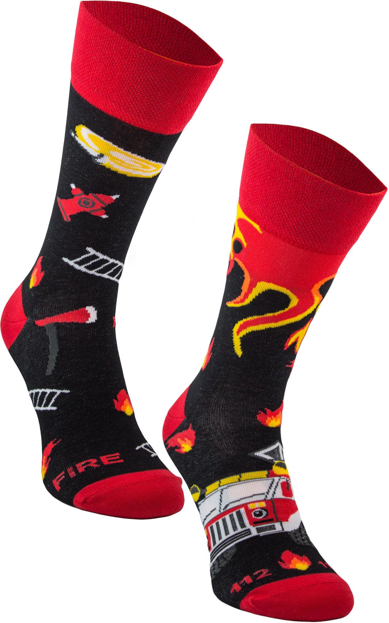 Socks on Fire, Todo Socks, Strażak, Ogień, Kolorowe Skarpetki
