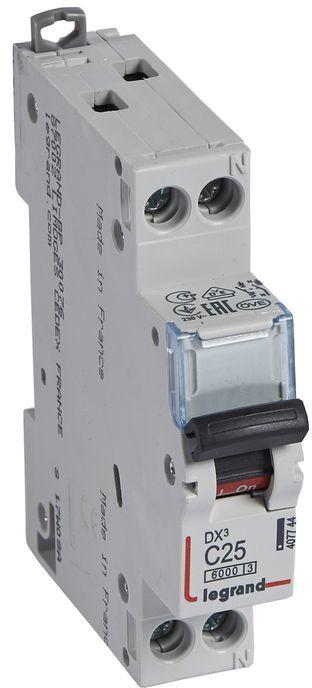 Wyłącznik nadprądowy 1P+N C 25A 6kA S301N DX3 407744