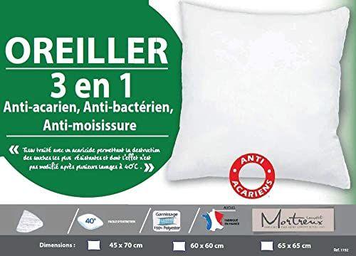 Laurentmortreux poduszka pod głowę, 3 w 1, 60 x 60 cm, poliester, biała, 60 x 60 cm
