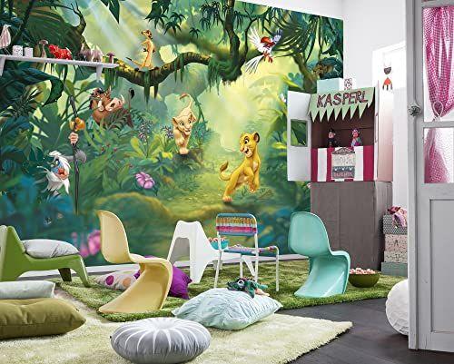 Komar Disney lew King dżungla tapeta mural, winylowa, wielokolorowa, 368 x 0,2 x 254 cm