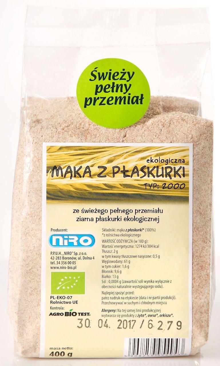 Mąka z płaskurki BIO - Niro - 400g
