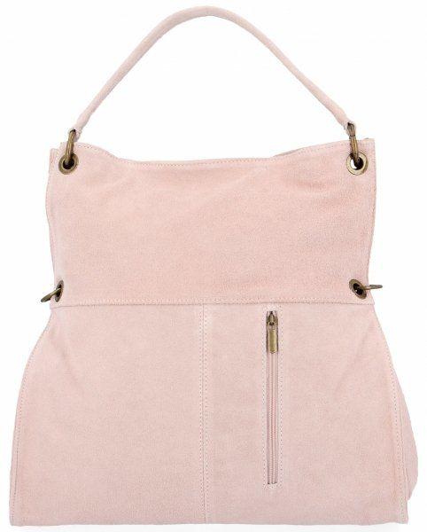 Torebki Skórzane typu Shopper Bag firmy VITTORIA GOTTI Pudrowy Róż (kolory)