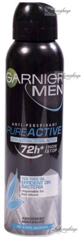 GARNIER - MEN - Anti-Perspirant Pure Active - Antyperspirant antybakteryjny z ekstraktem z drzewa herbacianego - 150 ml