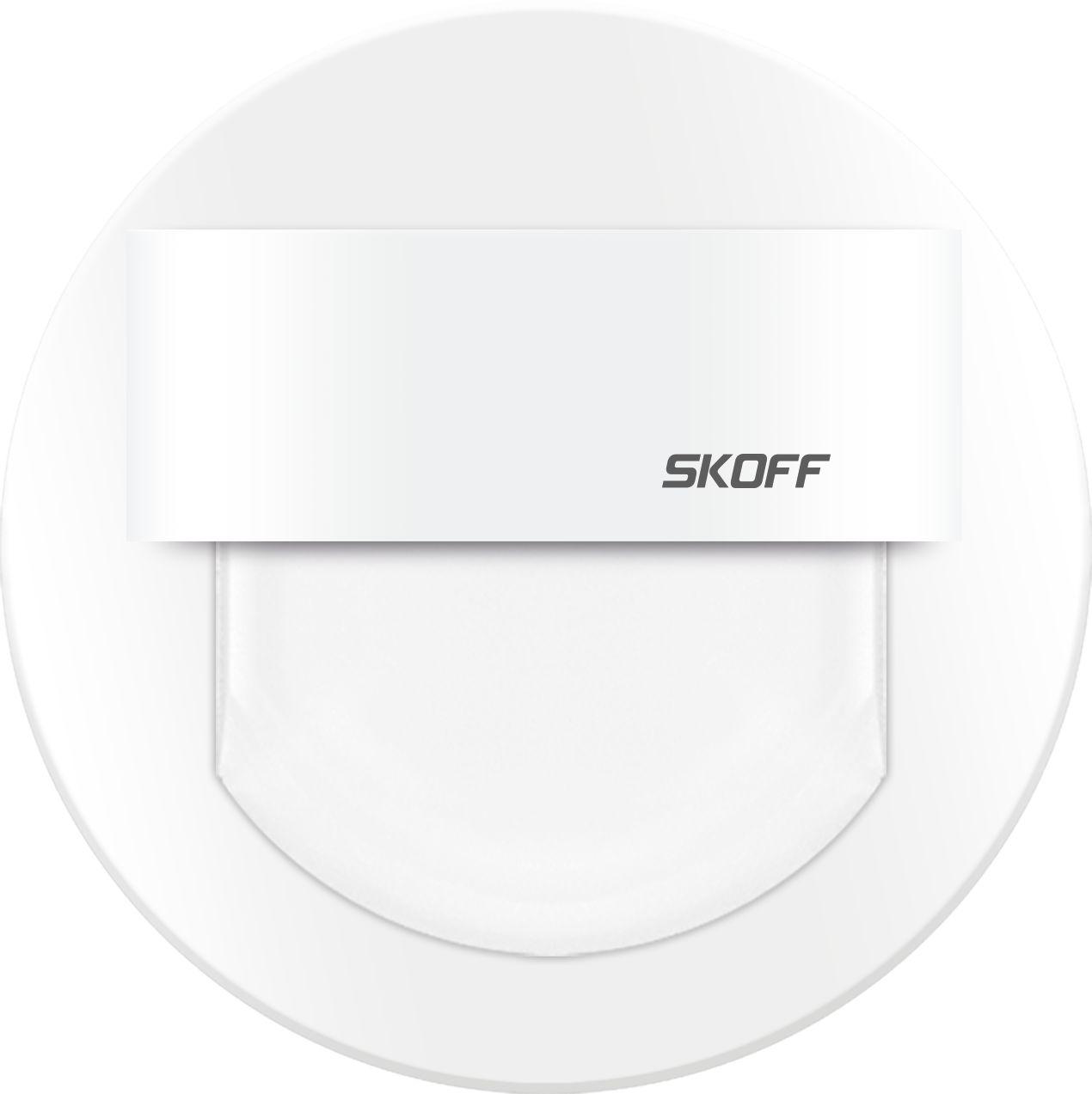 Oprawa schodowa Rueda Skoff 10V okrągła oprawa w kolorze białym