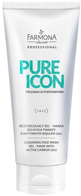 PURE ICON Oczyszczający żel  maska do mycia twarzy z aktywnym węglem 200ml