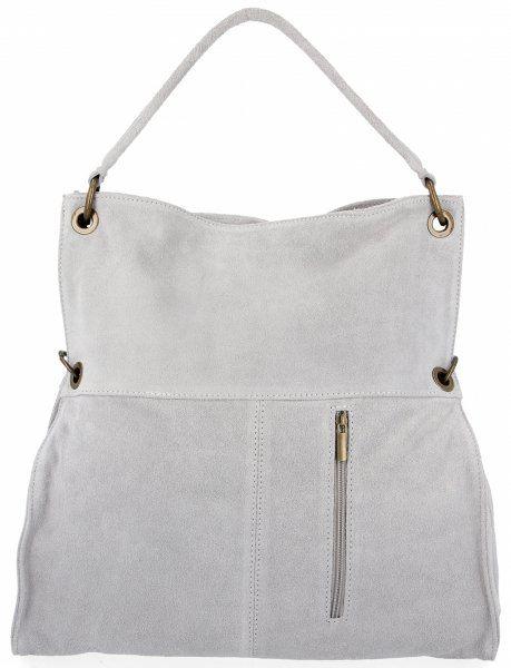 Torebki Skórzane typu Shopper Bag firmy VITTORIA GOTTI Jasno Szara (kolory)