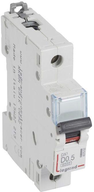 Wyłącznik nadprądowy 1P D 0,5A 6kA S301 DX3 407962