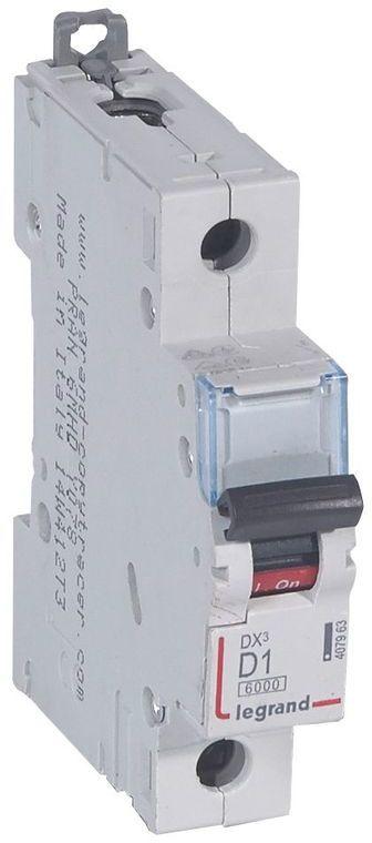 Wyłącznik nadprądowy 1P D 1A 6kA S301 DX3 407963