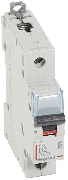 Wyłącznik nadprądowy 1P D 2A 6kA S301 DX3 407964