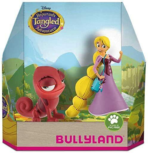 Bullyland 13463 - zestaw figurek do zabawy, Walt Disney Roszpunka i Pascal, starannie ręcznie malowane figurki, bez PCW, wspaniały prezent dla chłopców i dziewczynek do fantazyjnej zabawy