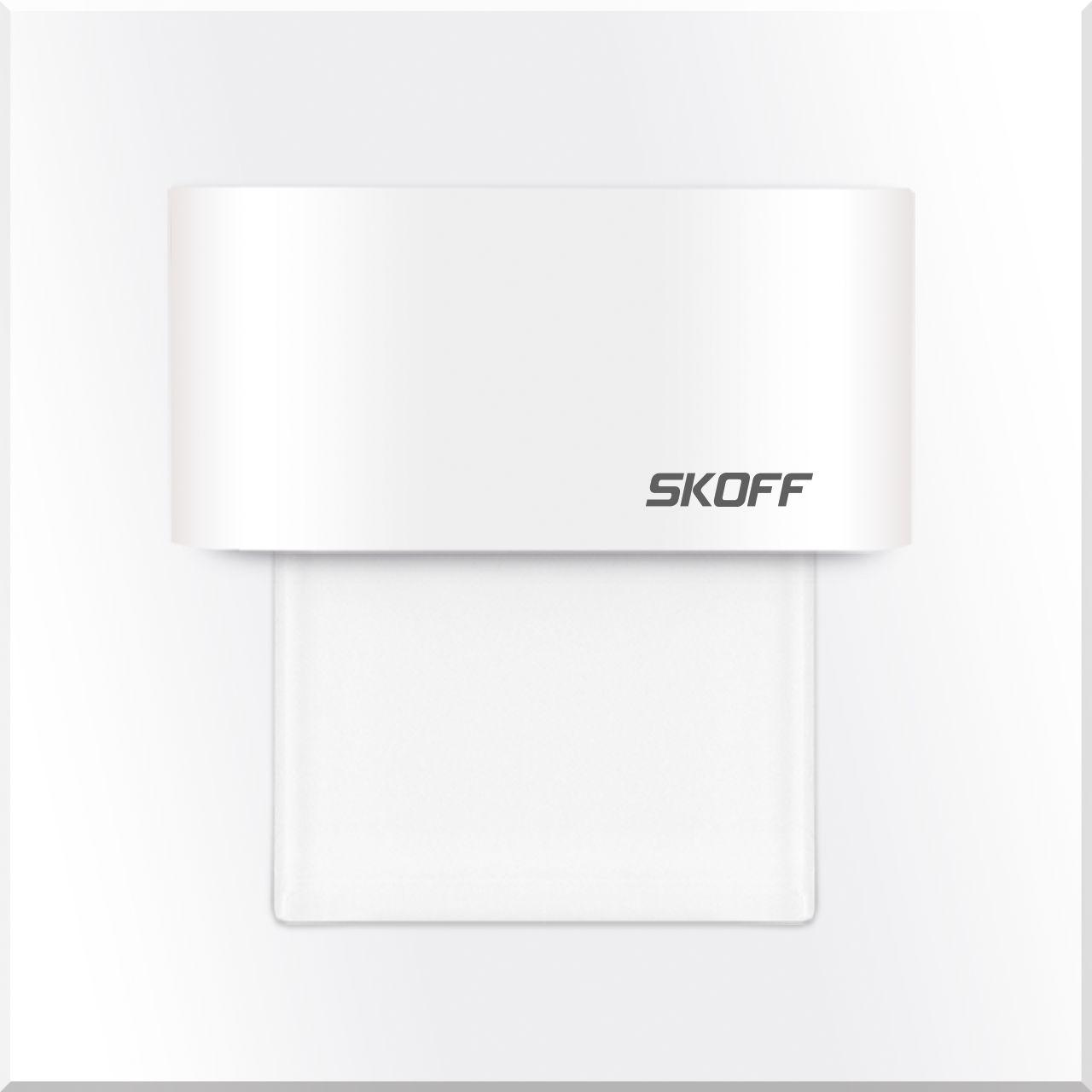 Oprawa schodowa Tango mini Skoff 10V kwadratowa oprawa w kolorze białym