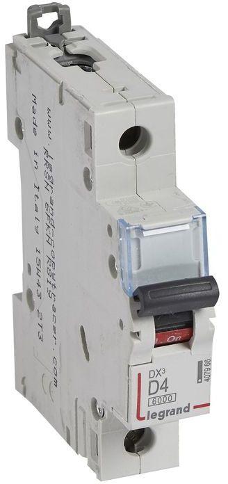 Wyłącznik nadprądowy 1P D 4A 6kA S301 DX3 407966