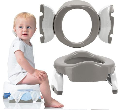 Nocnik 2w1 nakładka na toaletę szara Potette Plus