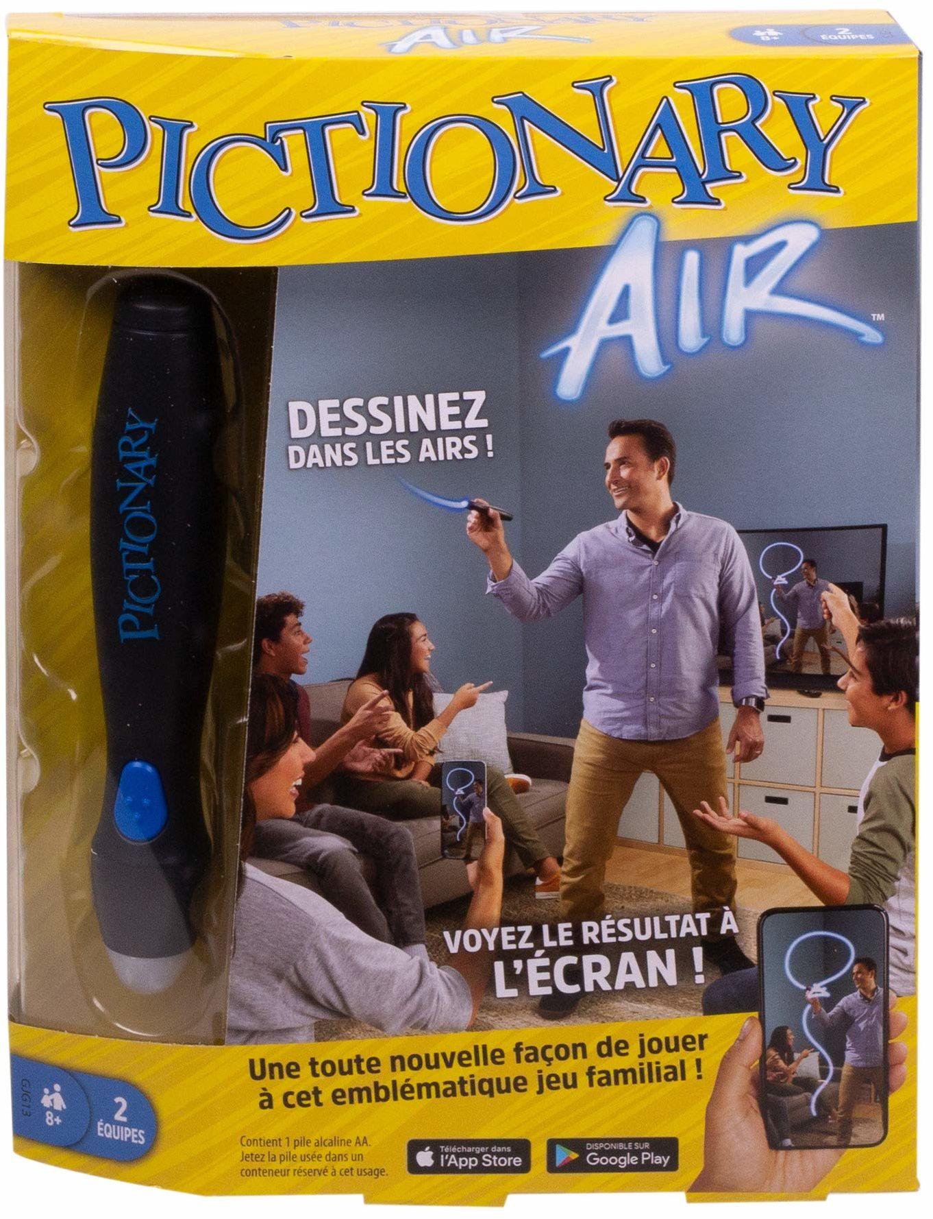 Pictionary Air, gra towarzyska, do rysowania na powietrzu, z ekranem, wersja francuska, GJG13