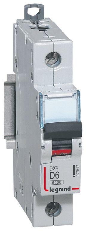 Wyłącznik nadprądowy 1P D 6A 6kA S301 DX3 407967