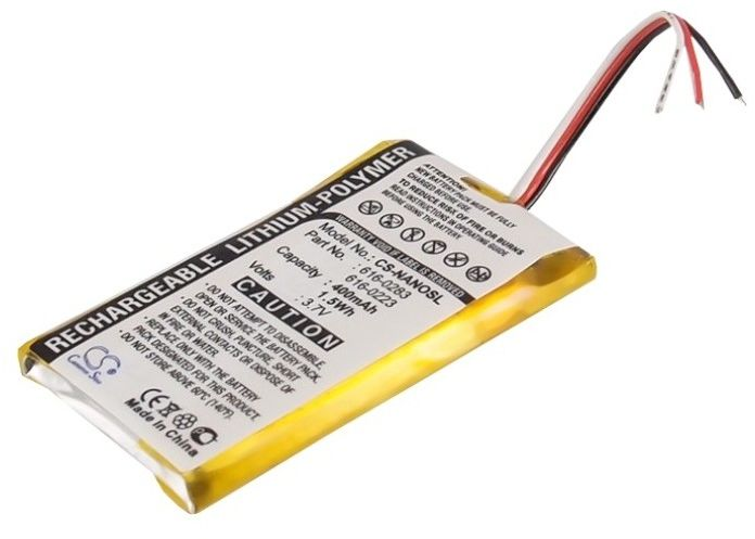 Apple iPod Nano / 616-0283 400mAh 1.48Wh Li-Polymer 3.7V (Cameron Sino)