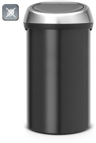 Kosz TOUCH BIN 60L Matt Black / Matt Steel FPP