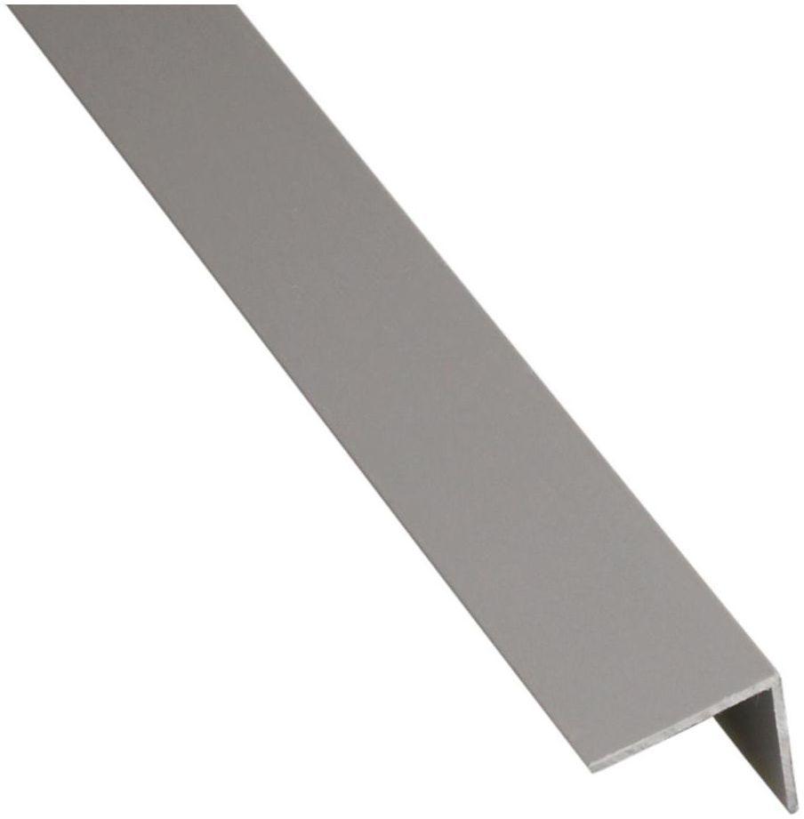 Kątownik PVC 2.6 m x 30 x 30 mm matowy szary