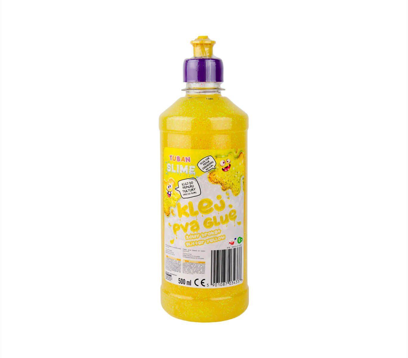 Klej z brokatem żółty - 500 ml