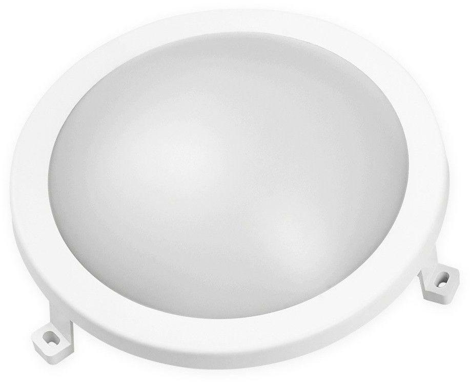 Oprawa kanałowa Plafon LED LEDOM BULKHEAD 12W 840lm 220-240V 4000K okrągły IP54