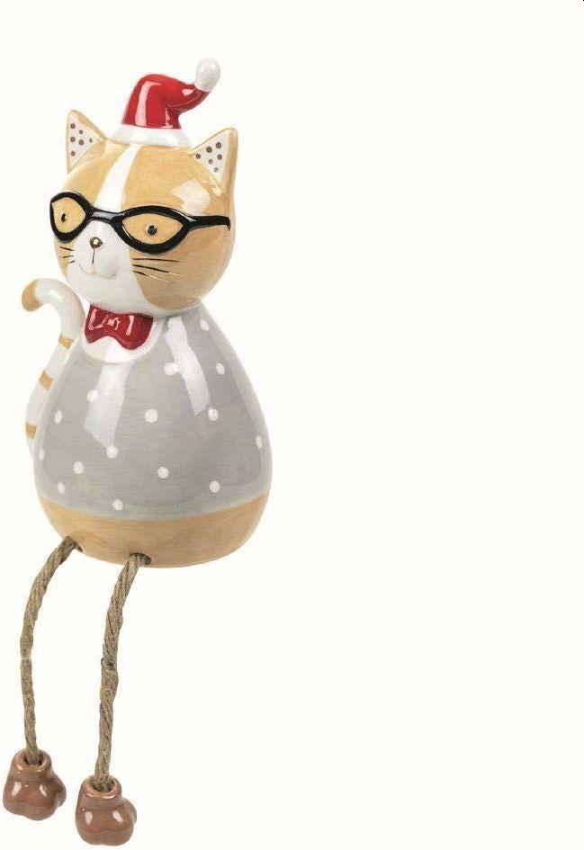 Villa d''Este Home Tivoli Trendy Christmas Cat duże nogi dla niego, wielokolorowe, wymiary: 12 x 9,6 x 20 cm