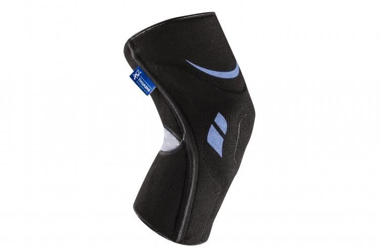 Orteza stawu kolanowego stabilizująca rzepkę - dzianina kompresyjna, elastyczne wzmocnienia boczne, silikonowa wkładka na rzepkę (Silistab Genu Thuasn