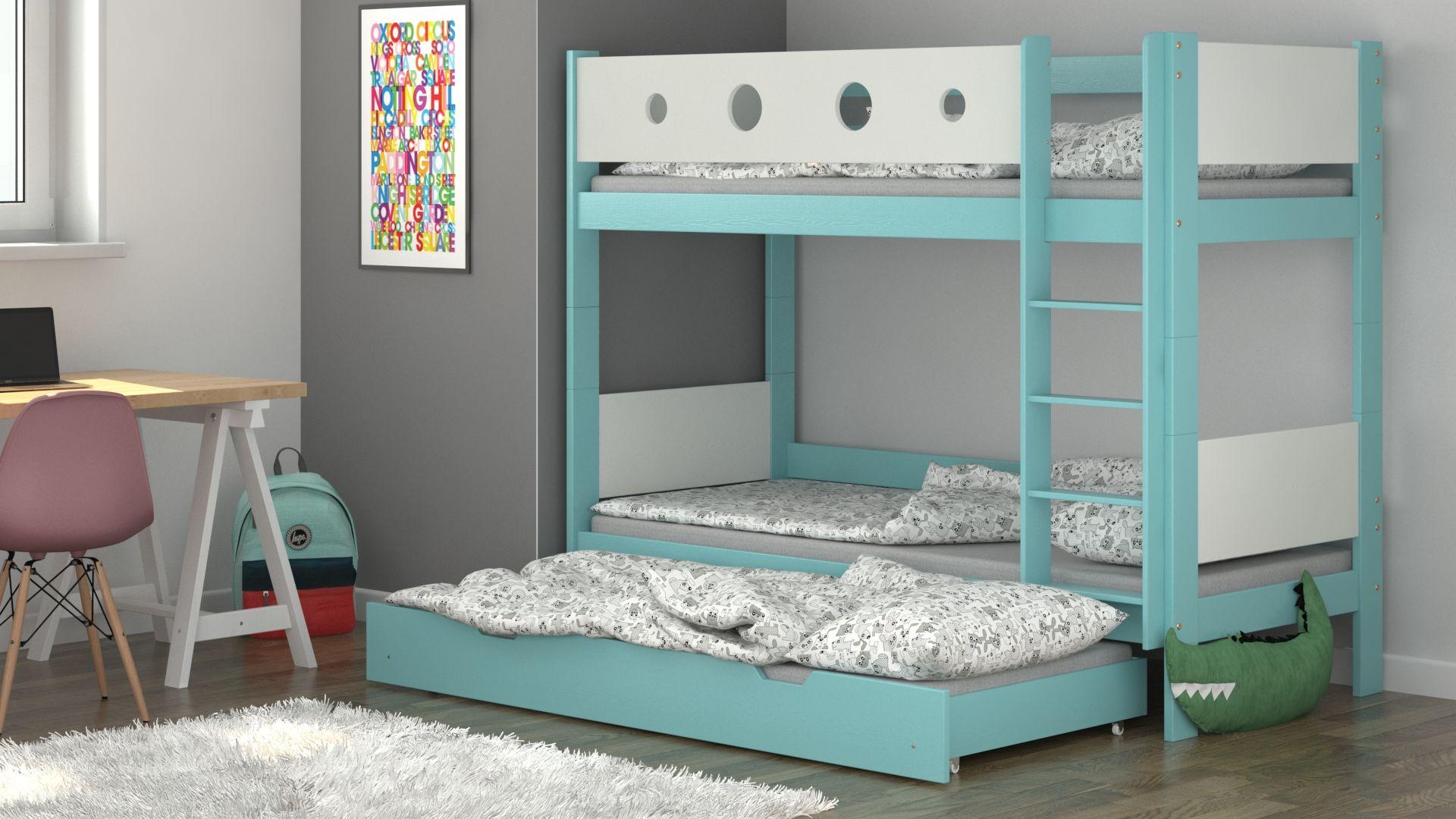 Łóżko piętrowe Tom Trio
