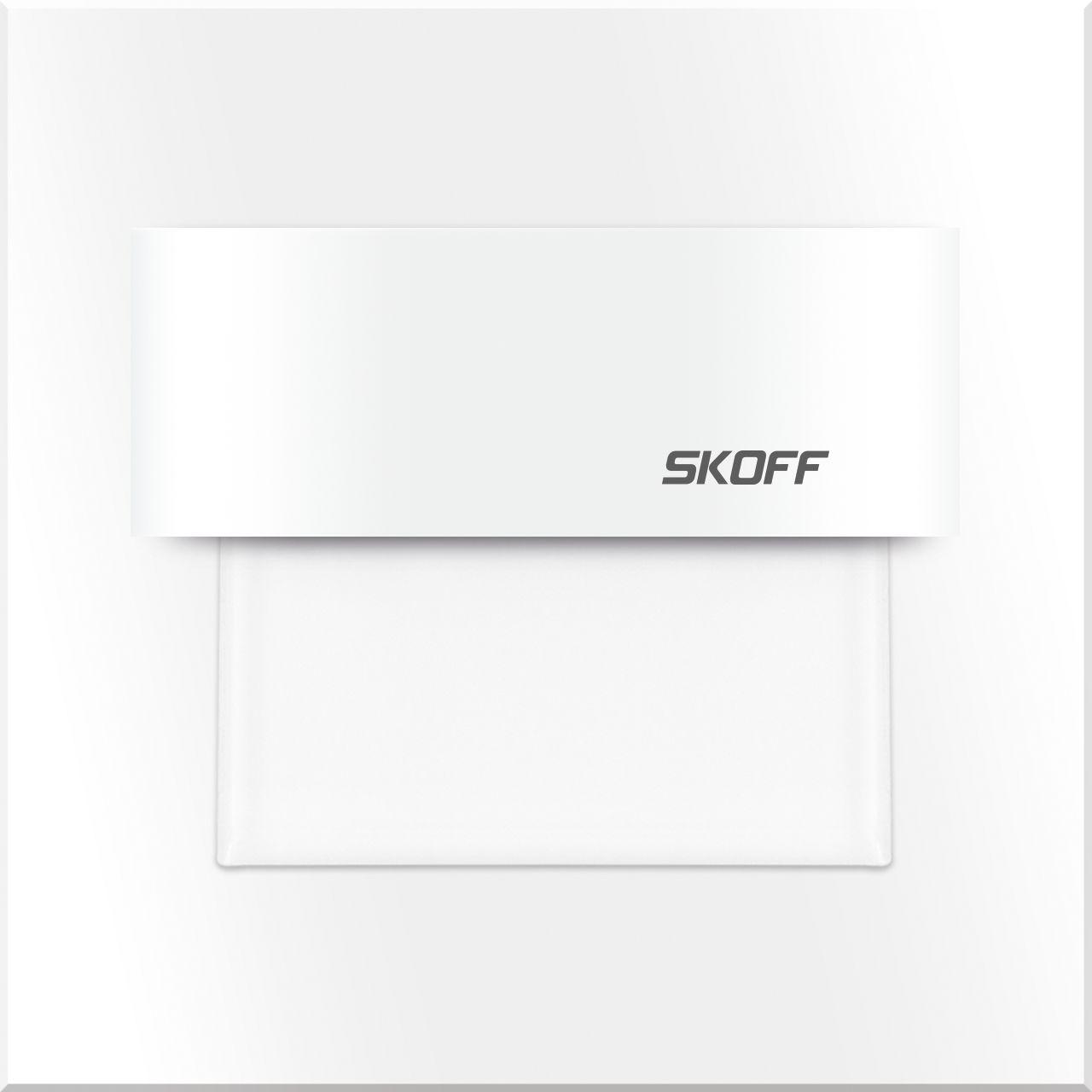Oprawa schodowa Tango Skoff 10V kwadratowa oprawa w kolorze białym