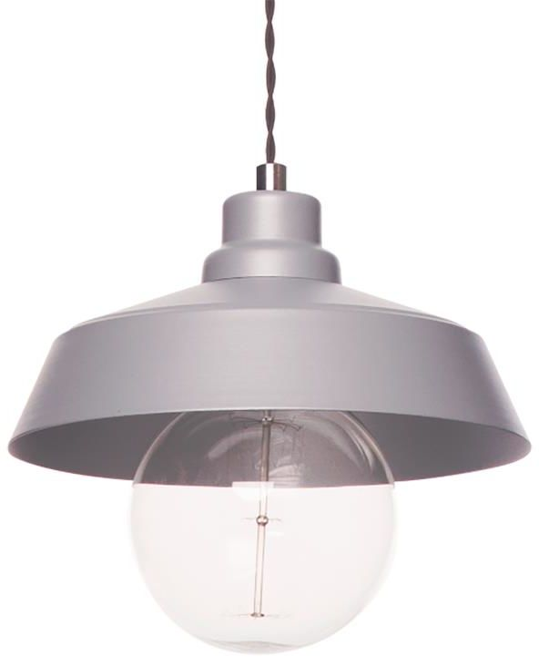 Lampex Vinci Z1 POP 589/Z1 POP lampa wisząca nowoczesna metalowy klosz popielaty 1x40W E27