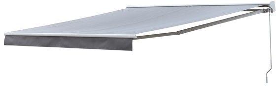 Markiza balkonowa ręczna z półkasetą 3,8 x 3 m