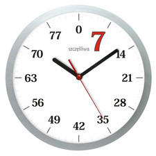Zegar ścienny szczęśliwa siódemka