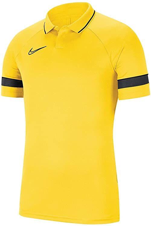 Nike Koszulka polo dla chłopców Academy 21 żółty Tour Yellow/Black/Anthracite/Black 122-128