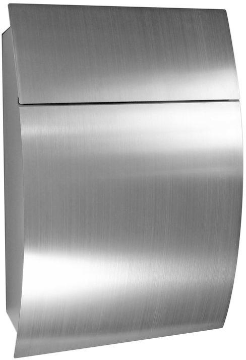 Skrzynka pocztowa ze stali nierdzewnej Luxury, srebrny