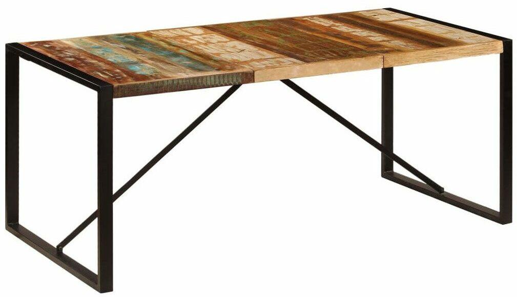 Wielokolorowy stół drewniany 90x180  Veriz 4X