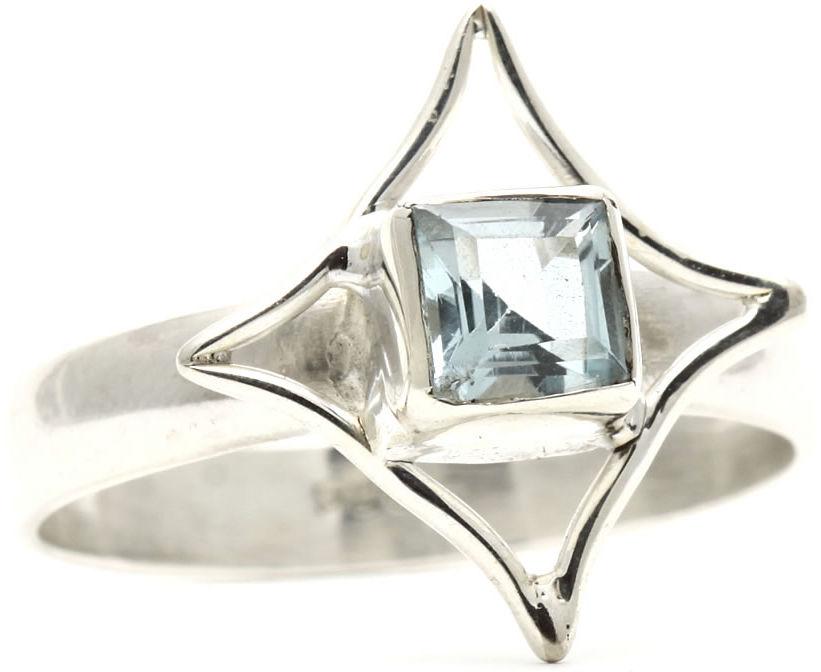 Kuźnia Srebra - Pierścionek srebrny, rozm. 17, Topaz, 3g, model