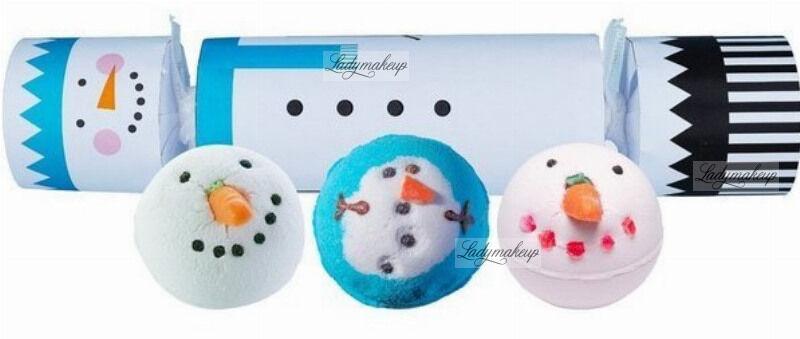 Bomb Cosmetics - Cracker Gift Pack - Zestaw upominkowy w kształcie cukierka - FROSTY THE SNOWMAN
